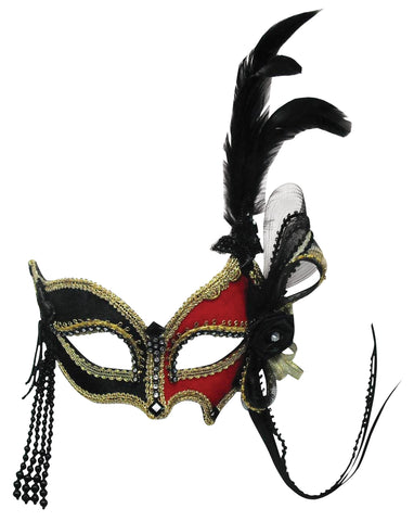 Venetian, Red and Black, Party Mask