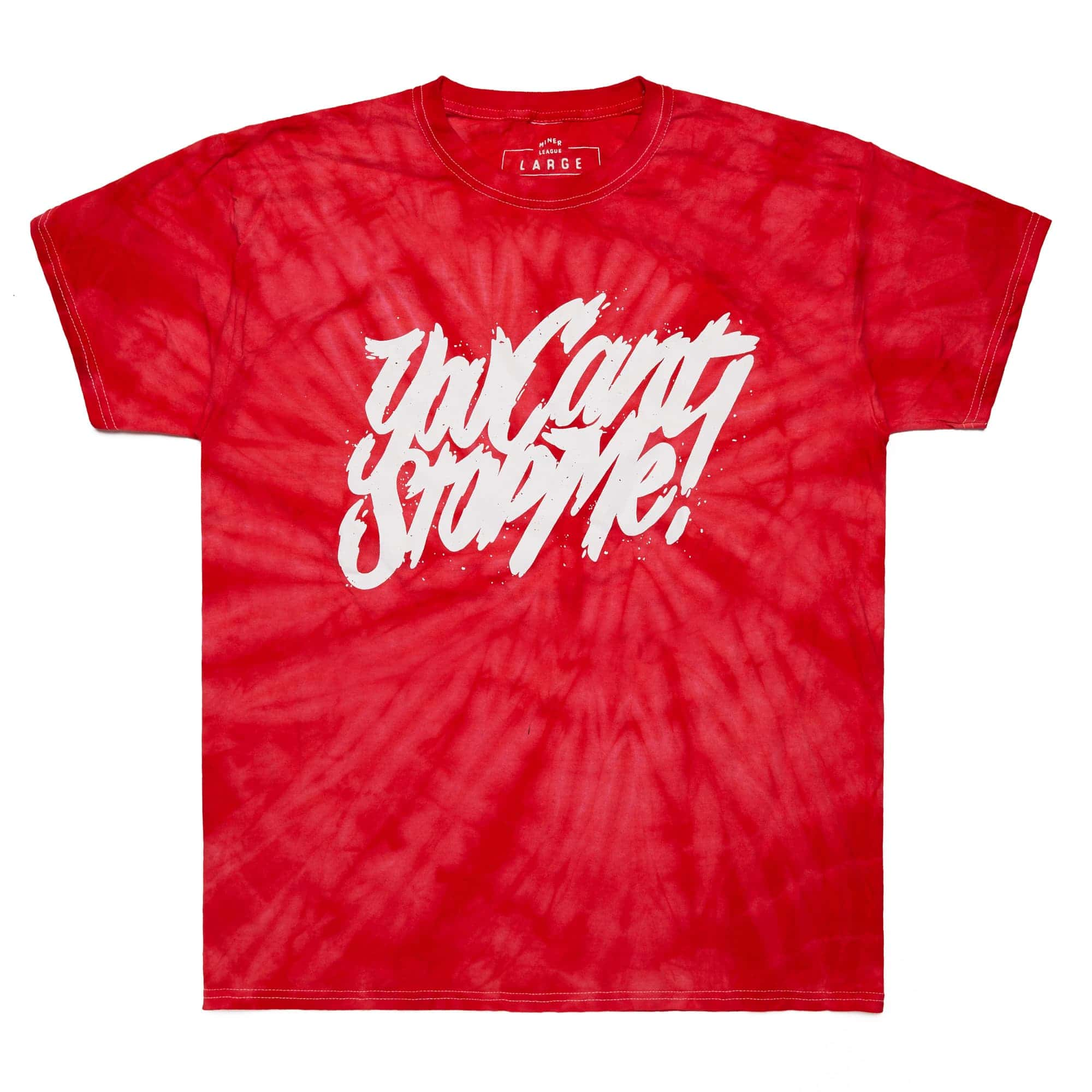 'You Can't Stop Me' Spider Crimson Tie Dye Tee
