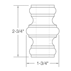 "Baluster Shoe - Knuckle w/ Screws - Round 5/8"" (Set of 10) 2GRKNCK"
