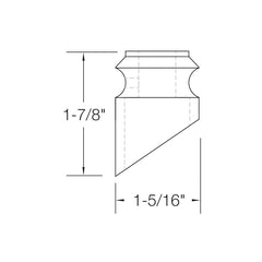 "Baluster Shoe - Slant Shoe No Screw - Square 1/2"" (Set of 10) SH804"