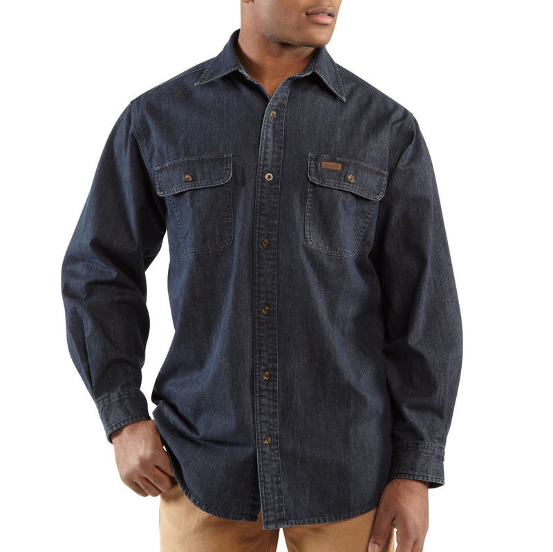 Carhartt 100082 Washed Denim Work Shirt