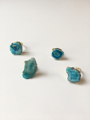 Agate Ring (Blue)