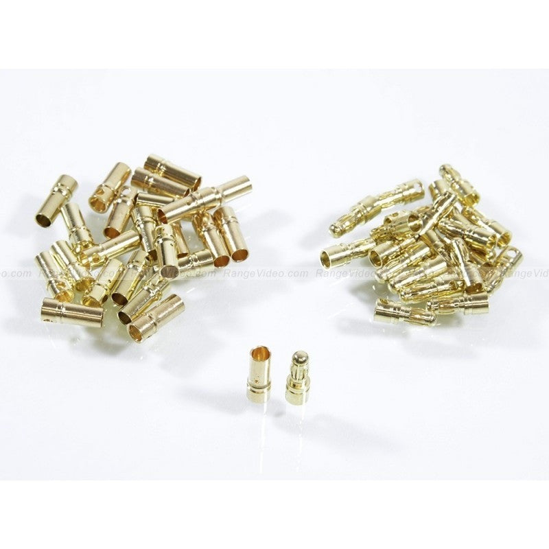 3.5 mm Gold Plated Bullet Connectors (10 pairs)