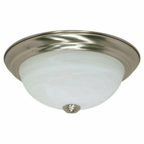 Rainbow EVER 2946 BN Three Light Flush Ceiling Mount in Brushed Nickel Finish