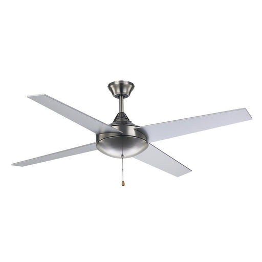 52 inch Modern 4 Blade Brushed Nickel Ceiling Fan