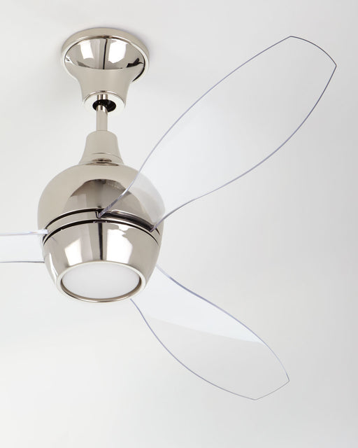 "Bordeaux Ceiling Fan, 52"" Polished Nickel Acrylic Blades"