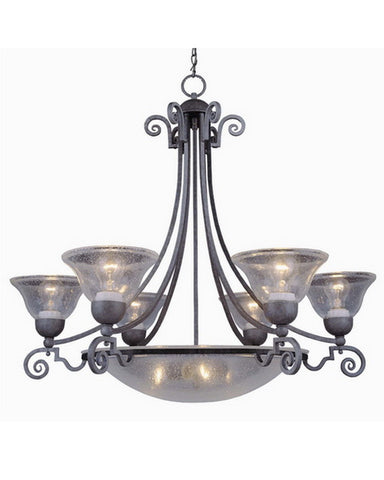 Vaxcel Lighting CH11056 AP Nine Light Chandelier in Antique Pewter Finish - Quality Discount Lighting