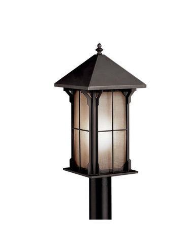 Kichler Lighting 10967 OZ One Light Energy Efficient Fluorescent Outdoor Exterior Post Lantern in Olde Bronze Finish - Quality Discount Lighting