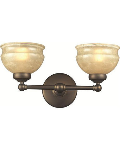 Z-Lite Lighting 305-2V Two Light Bath Vanity Wall Fixture in Olde Bronze Finish - Quality Discount Lighting