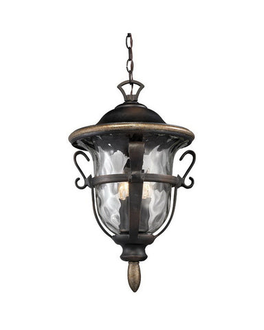 Kalco Lighting 9396 RB Three Light Outdoor Exterior Hanging Pendant Lantern in Royal Bronze Finish - Quality Discount Lighting