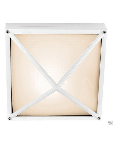 Epiphany Lighting 104884 WH One Light Cast Aluminum Outdoor Exterior Ceiling or Wall Mount in White Finish