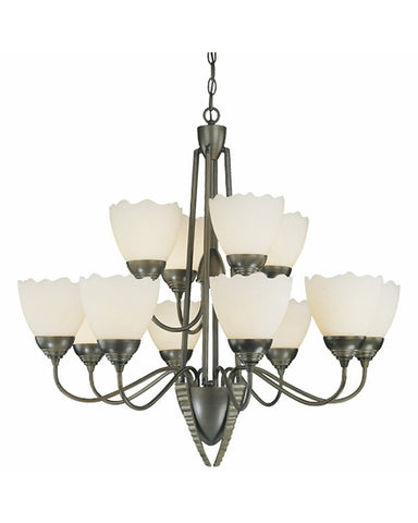 Thomas Lighting M2020-63 Twelve Light Chandelier in Painted Bronze Finish - Quality Discount Lighting
