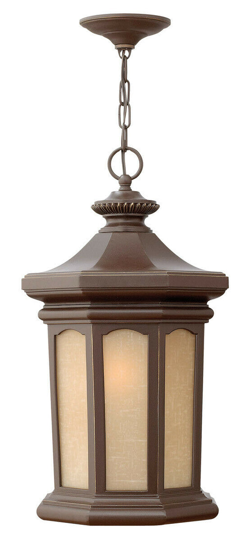Hinkley Lighting 2132 OZ Rowe Park Collection One Light Exterior Outdoor Hanging Lantern in Oil Rubbed Bronze Finish