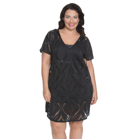 Gorgeous Plus Size Cover-Up from Dotti - Available in WHITE and BLACK