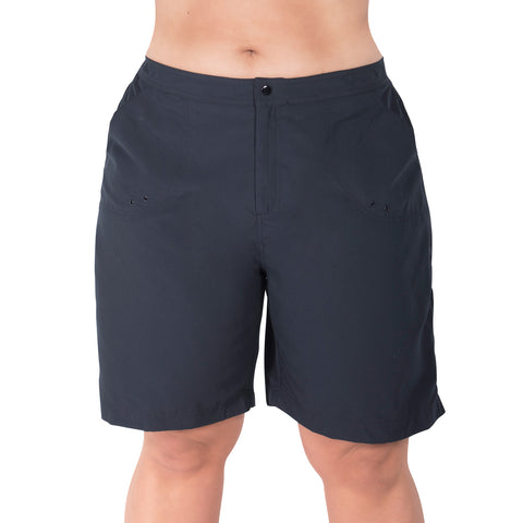 Maxine Plus Size Long Board Shorts with Built in Pant