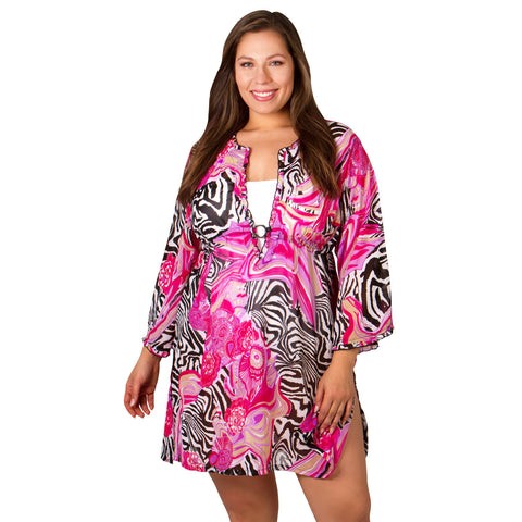 Plus Size Cover-Ups - Abstract by Peppermint Bay