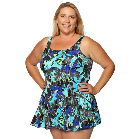 *Special Price* Floral Plus Size Swimdress