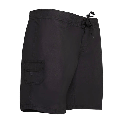 Women's Plus Size Board Shorts - Black