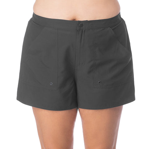 Maxine Plus Size Board Shorts with Built in Panty