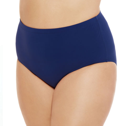 Plus Size Swim Brief by Christina - Blue/Navy