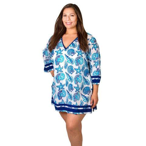 50%  OFF - Plus Size Cover-Ups - Paradise Plus Size Tunic