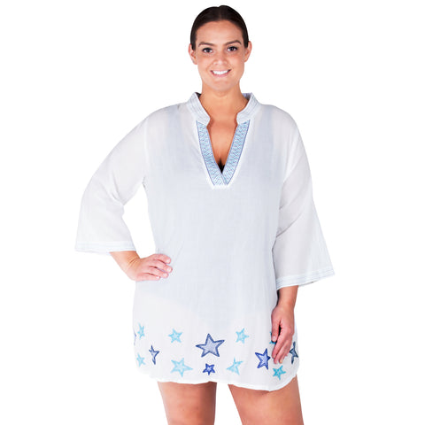 Star Light Plus Size Cover-Up From Peppermint Bay
