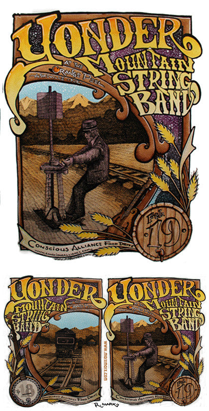 Yonder Mountain String Band Asheville - 2006 (2 Panel)
