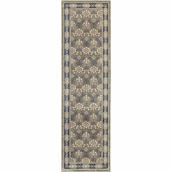 Woven Richmond Grey Navy Oriental Persian Traditional Rug