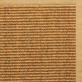 Cognac Sisal Rug with Honeycomb Cotton Border