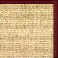 Sand Sisal Rug with Cardinal Red Cotton Border - Free Shipping