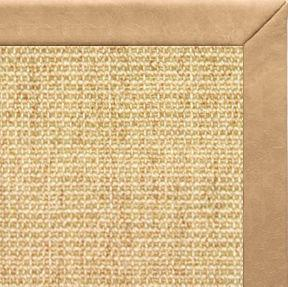 Sand Sisal Rug with Desert Faux Leather Border