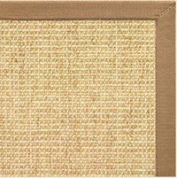 Sand Sisal Rug with Granola Cotton Border - Free Shipping