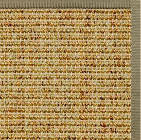 Spice Sisal Rug with Basil Green Cotton Border