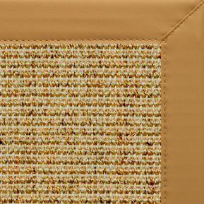 Spice Sisal Rug with Chamois Faux Leather Border