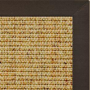 Spice Sisal Rug with Chocolate Cotton Border