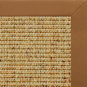 Spice Sisal Rug with Cinnamon Faux Leather Border