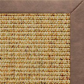 Spice Sisal Rug with Coco Faux Leather Border