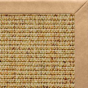 Spice Sisal Rug with Desert Faux Leather Border