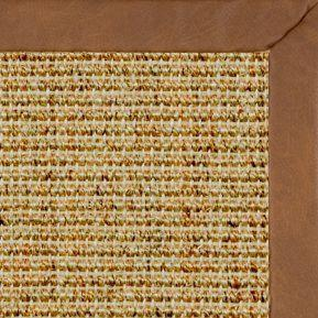 Spice Sisal Rug with Rawhide Faux Leather Border