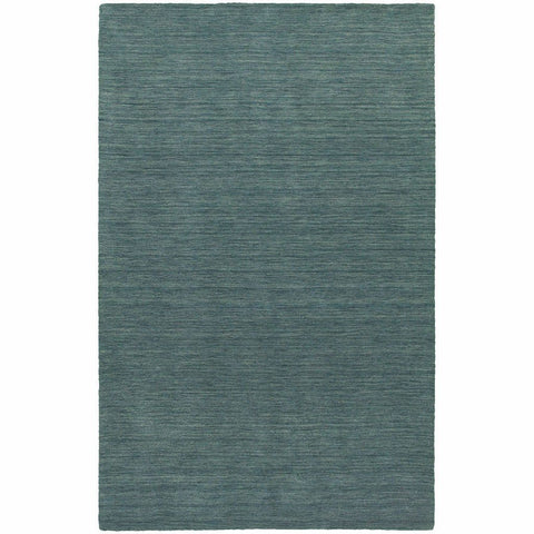 Oriental Weavers Aniston Blue  Solid  Transitional Rug