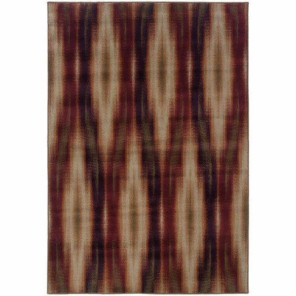Woven - Adrienne Grey Red Tribal Ikat Transitional Rug