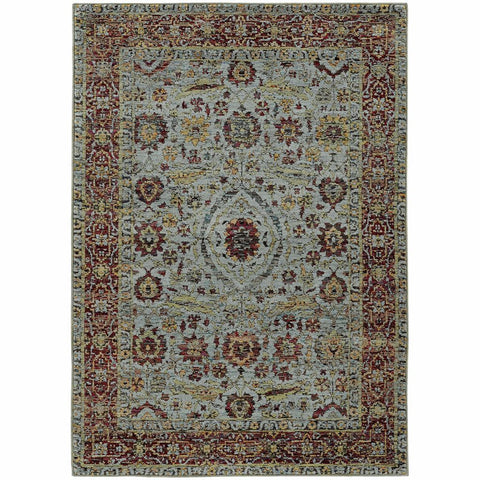 Oriental Weavers Andorra Blue Red Oriental Persian Traditional Rug