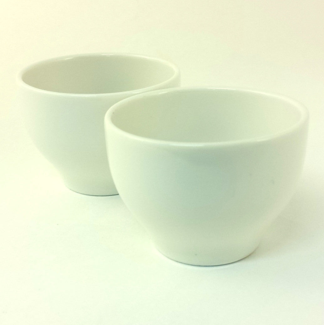 White porcelain teacup