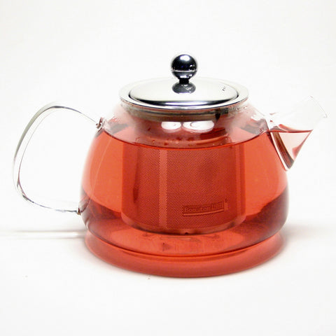 Glass Teapot  Stainless Steel Filter