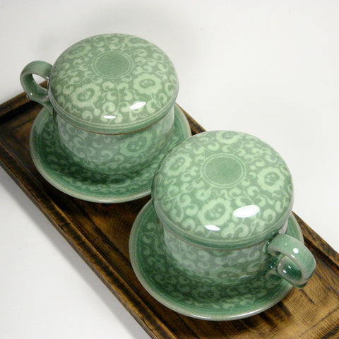 celadon infuser cup set - Arabesque