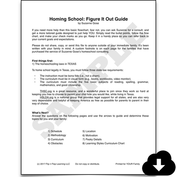 Homing School: A Figure it Out Guide - Homeschool Spanish Curriculum | Flip Flop Spanish
