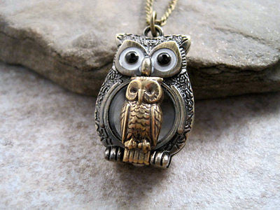 Handmade Mommy And Me Owl Necklace