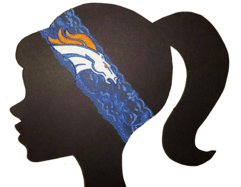 Broncos Lace Headband - Peachy Keen Boutique