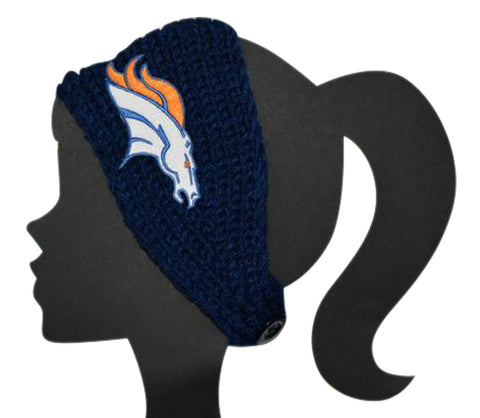 Broncos Knit Headband - Peachy Keen Boutique