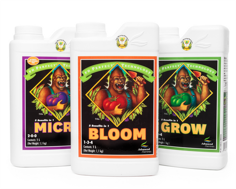 Advanced Nutrients 3-Part Micro, Grow & Bloom